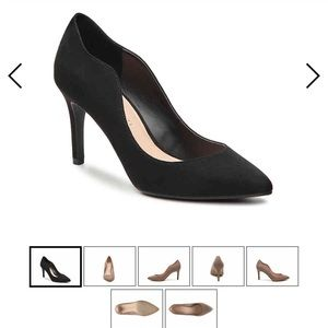 Kelly & Katie Faux suede black heels